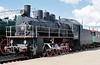 Class Em 0-10-0 740-57, Rizhskiy railway museum, Moscow, 30 August 2015.  At least 2750 class Em (modernised E class) locos were built 1931 - 1935.