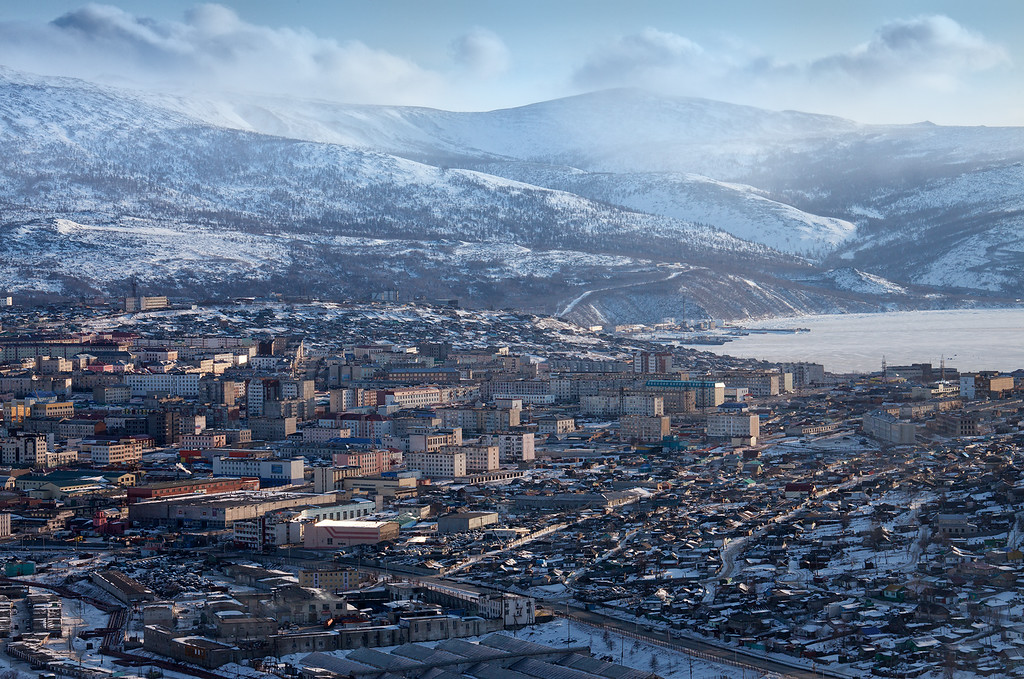 View of the city Magadan