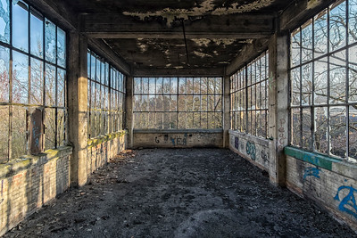 Abandoned coal preparation plant. France.