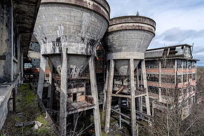Abandoned coal preparation plant. France.