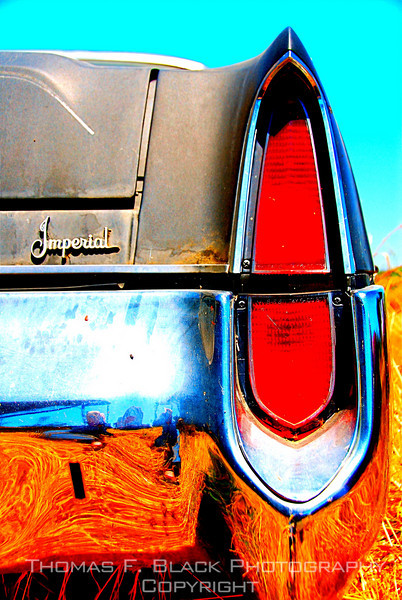 """Rear taillight, same 1975 Imperial. Note """"Imperial"""" badge above bumper. [UFP 070609]"""
