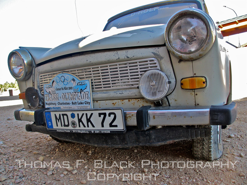 Up close and personal: Trabi from ground level. [UFP060113]