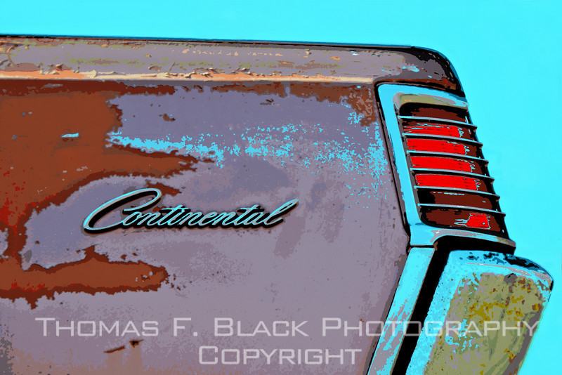 1960s Lincoln Continental, Richmond, CA. Special graphic effect applied. [UFP022811]