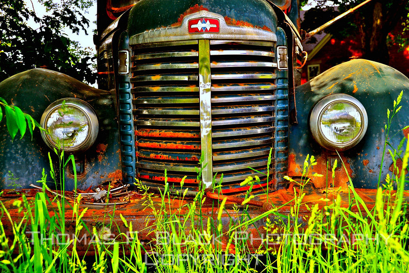 This and six frames following, rare 1947 International Harvester KB-6 pickup, Vermont. [UFP052910]