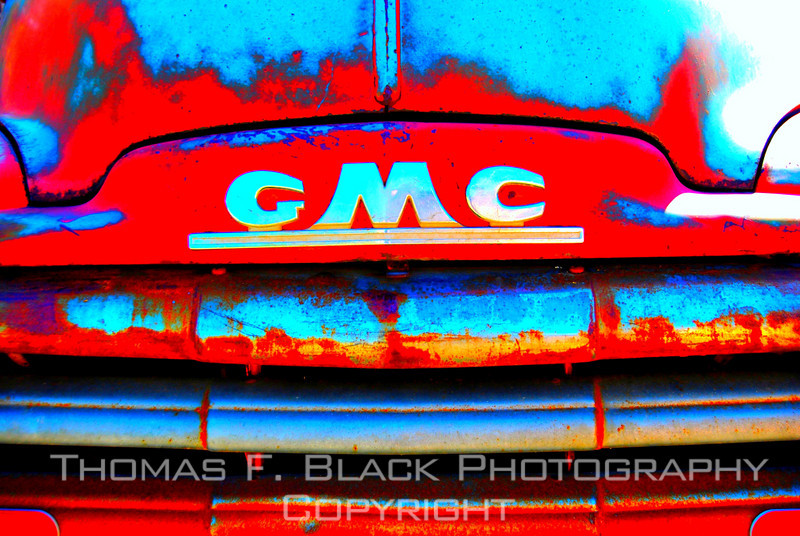 This and four frames following, 1951 GMC pickup, Nambe, NM. [UFP 051009]
