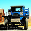This and frame following, nicely restored 1927 Dodge Graham truck, ghost town of Bodie, CA. [UFP 10/11/09]