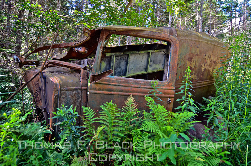 Long-abandoned delivery truck of unknown make, Bar Harbor, ME. [UFP072711]