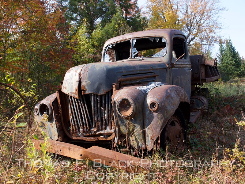 1940s one-ton ford truck, new hampshire.