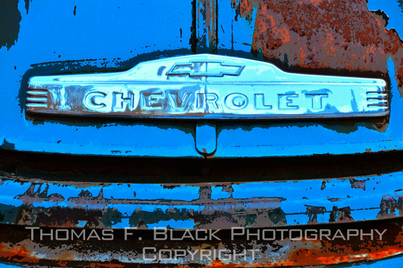 This and frame following, 1950s Chevrolet flatbed truck, Plumas County, CA. [UFP020311]