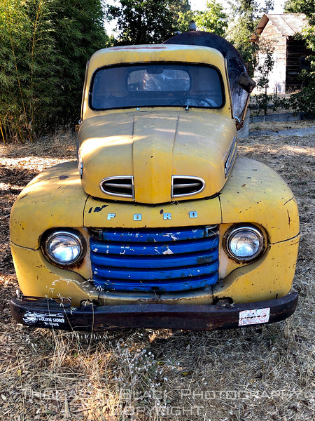 This and two frames following, 1949 ford, Walnut Creek, CA.