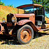 This and two frames following, 1930 Chevrolet flatbed, Boeger Winery, Placerville, CA. [UFP072410]