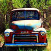 This and two frames following, 1951 GMC pickup truck, Nambe, NM. [UFP 051009]