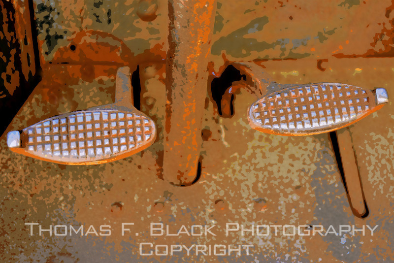Clutch and brake pedals. Special graphic effect applied. [UFP070811]