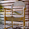 Chair inside vacant old barn, Lancaster County, PA. [UFP051812]