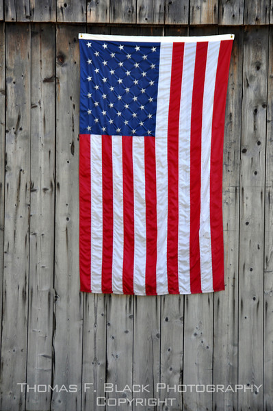 Patriotism on public display on a barn in Vermont. [UFP102810]