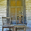 This and two frames following, front porch of old, long-vacant house, Hwy, 61, MS.