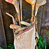 This and eight frames following, set of old golf clubs and horse saddle found inside barn near Livermore, CA. [UFP 032710] rustic relics, rustic relics pictures, rustic relics photos, rural americana, rural americana pictures, rural americana photos