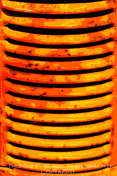 Grille of old Case tractor near Livermore, CA. [UFP032710]