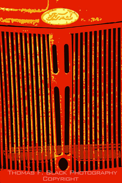 This and frame following, grille of antique Ford tractor, Massachusetts. (Different special graphic effects.) [UFP 073009]