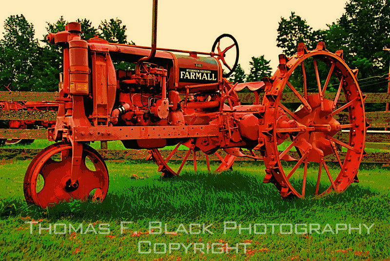 This frame and next, 1920s FarmAll tractor, Maine. [UFP 080209]