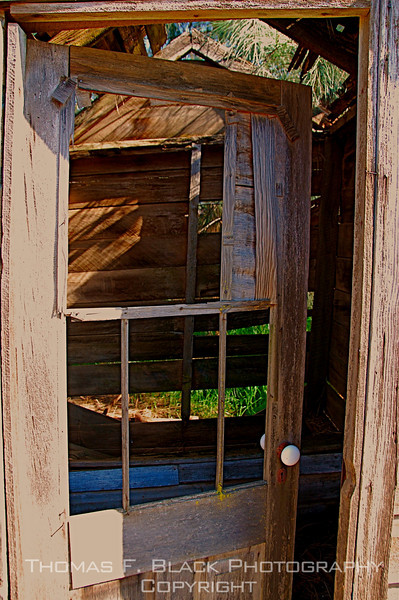 Discommoded outhouse, Amador County, CA. [UFP032709]