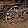 Century-old horse-drawn wagon inside historic Richardson Barn, Bar Harbor, ME. [UFP072411]