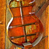 Object d'art. Metal sculpture of guitar. Front omitted intentionally. Asking price $1,200.[UFP072410]