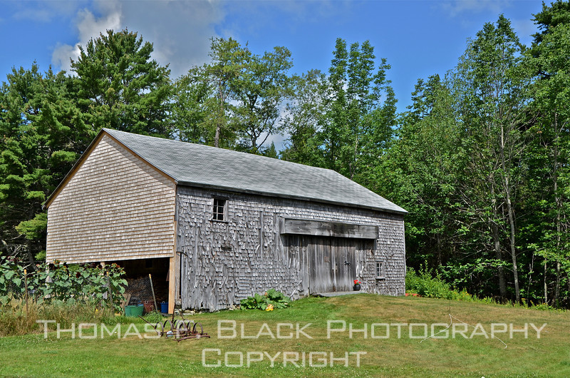 Higgins Barn, Bar Harbor, ME. Built in 1810, it has been placed on National Register of Historic Places by the U.S. Department of the Interior. [UFP072711]