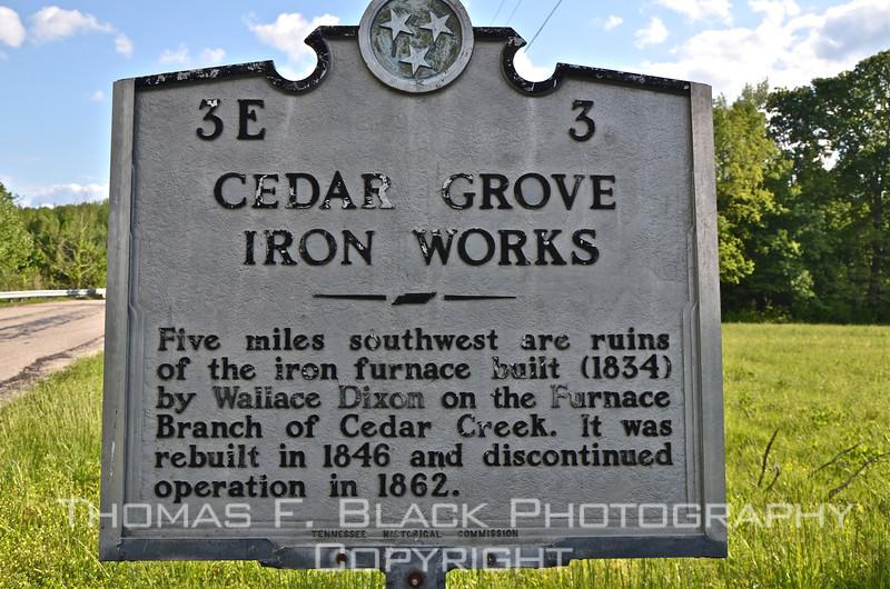 This and 16 frames following, Cedar Grove Iron Works, Perry County, TN. it was shelled by Union gunboats during the Civil War. [UFP050311]