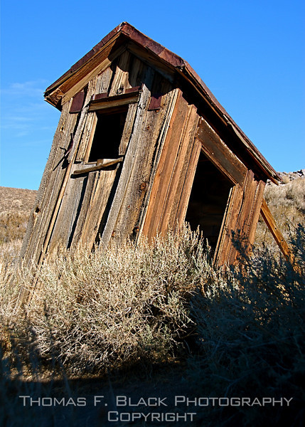 Different perspective of same outhouse, Bodie, CA. [UFP 101109]