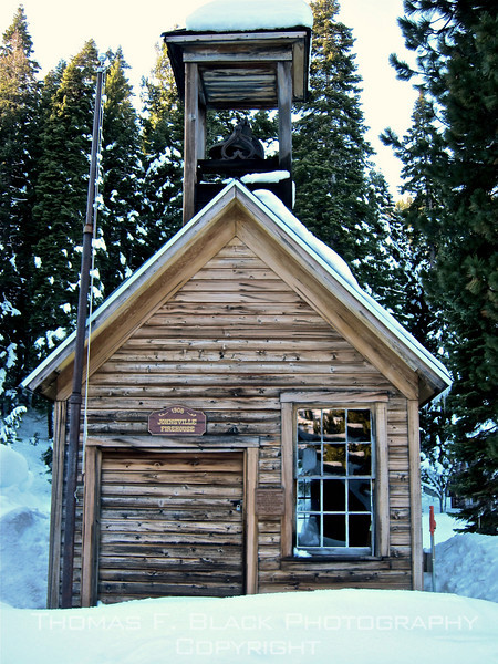 Abandoned fire house built in 1908, Johnsville, CA (Plumas County). [UFP110911]