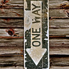 Sign on barn alongside private driveway, New York State. [UFP052810]