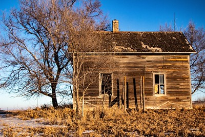 Abandoned farmhouse in South Dakota. Enjoy and hold hands.
