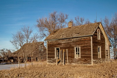 Abandoned farm in central South Dakota. Enjoy and hold hands.