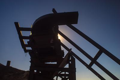 Silhouette of Mining Gear