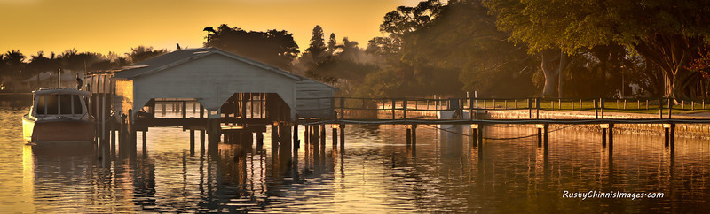 Boat Houses are becoming rare along Florida's coasts.