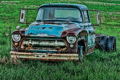 Abandoned Truck in Agriculutral Field