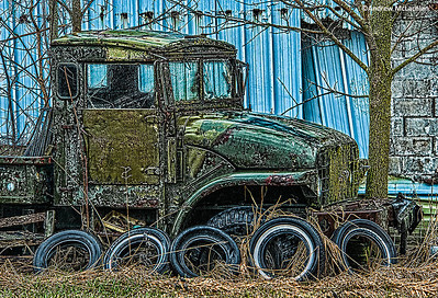 Dilapidated Truck and Tires