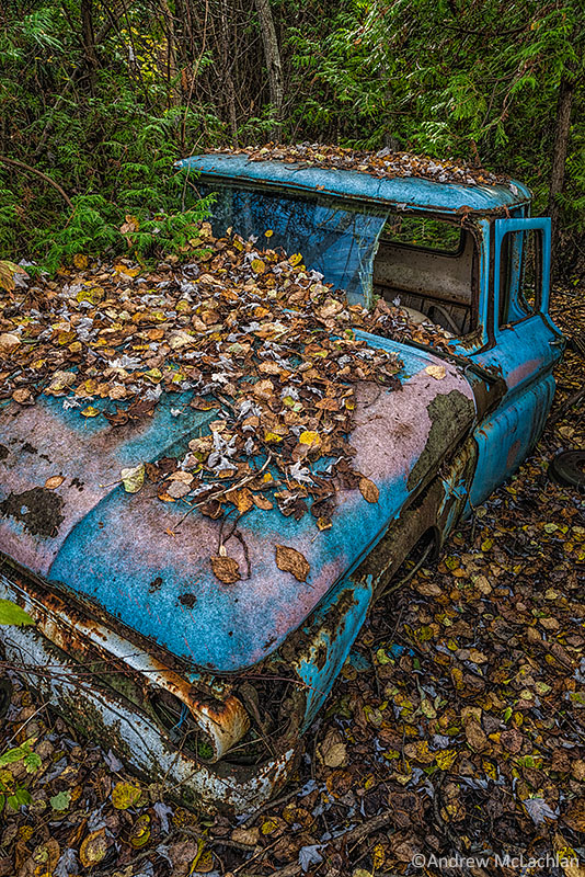 Abandoned Truck in Autumn
