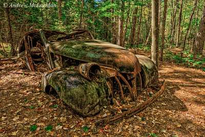 Rusty Old Wreck, Granite Ridge Trail, Killarney Provincial Park, Ontario