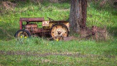 Rusty Tractor - Vancouver Island, British Columbia, Canada