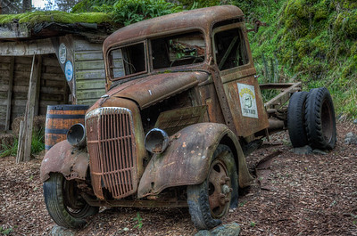 Old Forgotten Rusty Truck - Vancouver Island, British Columbia, Canada