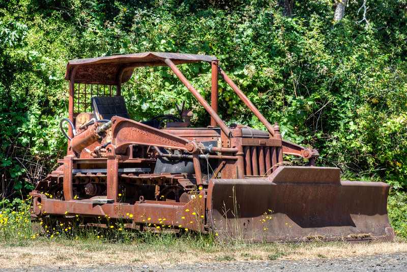 Rusty Bulldozer - Metchosin, Vancouver Island, British Columbia, Canada