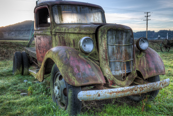 Rusty Antique Truck - Russell Farms, Cowichan Valley, Vancouver Island, British Columbia, Canada