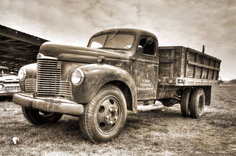 Chip's Old Workhorse in Sepia