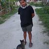 Samira and an Island Cat