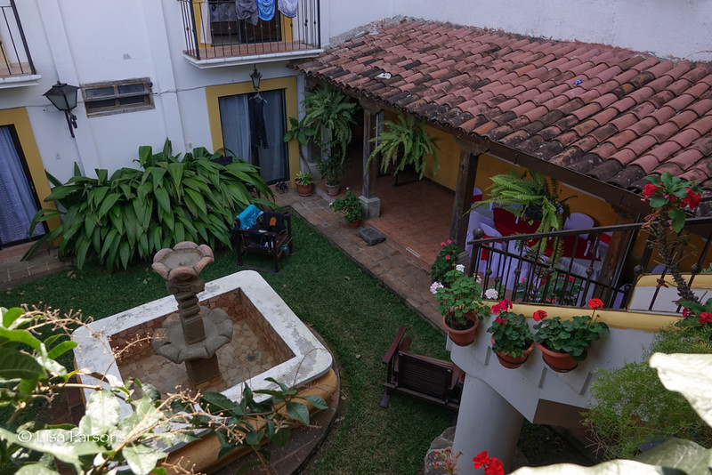 Courtyard of our hotel
