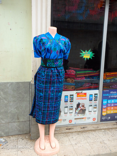 Traditional Dress at Fabric Store