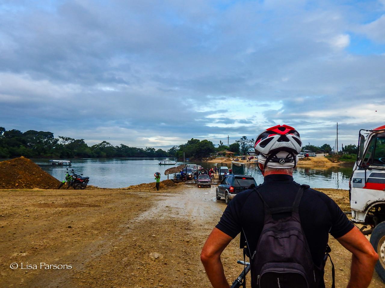 Morning Ferry Ride Across the Río La Pasión River