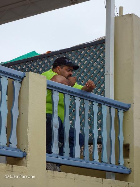 Bernardo Doing Business on His Phone